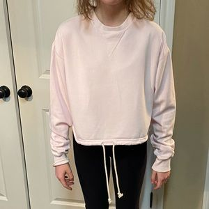 PacSun Pastel Pink Oversized Cropped Hoodie XS